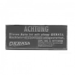 "PLAQUETTE ""ACHTUNG - OKRASA"""
