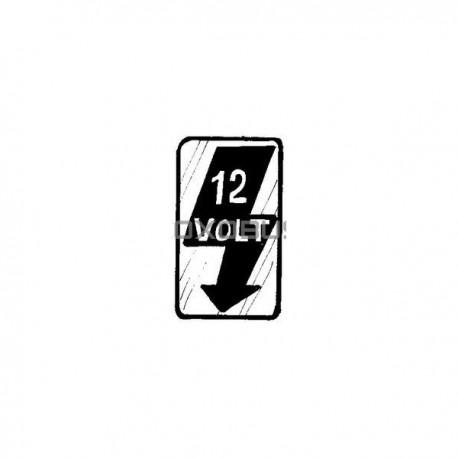 AUTOCOLLANT 12V MONTANT DE PORTE